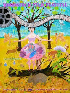 2011: Woodstock Fim Festival Art by: Kathy Ruttenberg  http://www.kathyruttenberg.com/