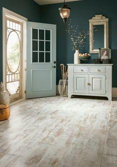 Beautiful high-density fiberboard laminate flooring with a milky paint finish…