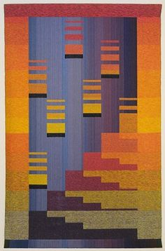 "Lois Bryant ""Stairway to Paradise, #3"" 1988  handwoven; cotton & metallic yarns"