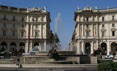 Rom, Piazza della Repubblica und Najadenbrunnen (Fountain of the Naiads) | Flickr - Photo Sharing!