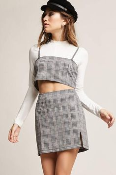 4f4ba322f0 Forever 21 Motel Glen Plaid Skirt Glen Plaid