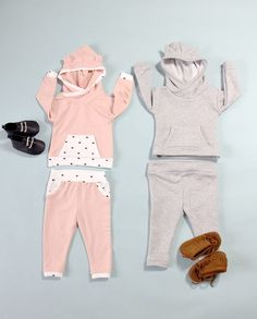 This post is sponsored by Fabric.com!  ^Dusty Rose French Terry^ Time to get cozy with this french terry set! Baby hoodies and sweat pants make me want to snuggle! This little set has a free pattern download and a few hoodie ear options to make them even cuter. It's super quick and easy to … #babyhoodie