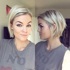 100 Mind-Blowing Short Hairstyles for Fine Hair Blonde Chin-Length Bob More – F Haircuts For Fine Hair, Short Hairstyles For Women, Hairstyles Haircuts, Pixie Haircuts, Medium Hairstyles, Latest Hairstyles, Natural Hairstyles, Choppy Bob Hairstyles For Fine Hair, Sweet Hairstyles