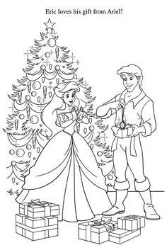 Disney Princess Christmas Gifts Coloring Pages Printable And Book To Print For Free Find More Online Kids Adults Of