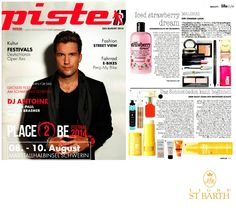 Ligne St Barth in the German Press: Piste - featuring our SPF 4 Tanning Oil www.LigneStBarth.com