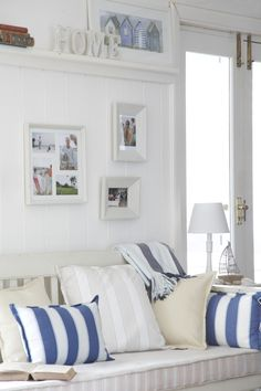 Can't beat blue & white stripes for the beach house.