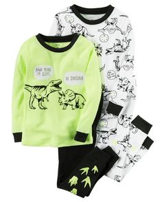 4-Piece Snug Fit Neon PJs from Carters.com. Shop clothing & accessories from a trusted name in kids, toddlers, and baby clothes.