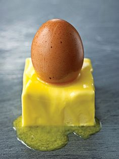 I first came across Irish buttered eggs—eggs rubbed in softened butter—at a stand at a market in Cork, Ireland. Jerry Moynihan, the farmer selling them, explained that buttering was a means of preserving eggs. Because the shell is porous, it absorbs the butter to form a more protective seal. Curious, I took one home.