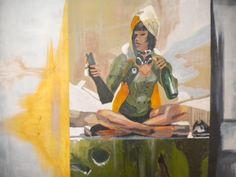 Title Hunters Party  87 - 72 - 2 cm  Acrylic paint on canvas  Artist Nicholas Dukliaskos
