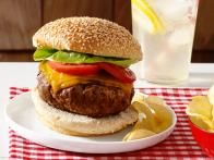 Real Hamburgers Recipe : Ina Garten : Food Network {delicious and easy burgers! The steak sauce added a nice tangy flavor and the butter kept the burgers very moist. Delicious with sharp cheddar cheese}