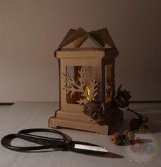Pinecone Lantern Using Tim Holtz & Sizzix