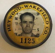 $9.99 Heywood-Wakefield Co. Employee Identification Badge Number 1125 - Whitehead-Hoag