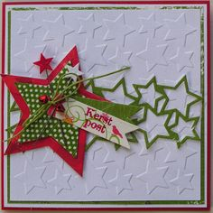 Homemade Christmas Cards, Christmas Paper, Christmas Crafts, Christmas Ornaments, Star Cards, Marianne Design, Diy Cards, Scrapbook Cards, Making Ideas