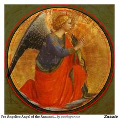 Fra Angelico - Renaissance - Perugia Triptych: Angel of the Annunciation. Fra Angelico, Renaissance Kunst, Italian Renaissance, Religious Icons, Religious Art, Angel Images, Catholic Art, Italian Art, Medieval Art