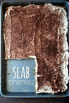 Slab Tiramisu – Summer's most luxurious no-bake dessert, simplified