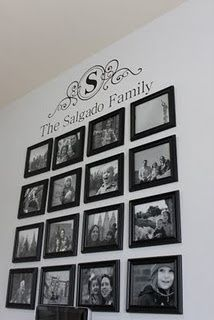 Neat wall idea... I need that top wall decor, can you make it???????