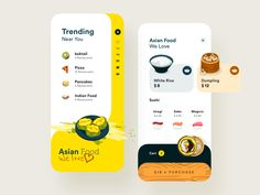 Food App designed by Moatasem Abbas Kharraz. Connect with them on Dribbble; the global community for designers and creative professionals. Web Design, App Ui Design, Mobile App Design, User Interface Design, Mobile Ui, Food Design, Apps, Delivery App, Ui Design Inspiration