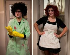 DIY Halloween costume for a couple: Frank N Furter and Magenta, Rocky Horror.