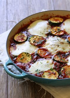Skillet Chicken and Zucchini Parmesan