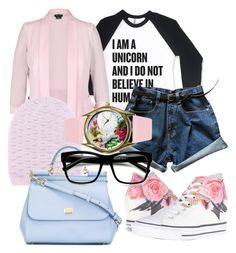 """""""Unicorn Hipster Princess"""" by starletinwaiting ❤ liked on Polyvore featuring City Chic, Barrie, Dolce&Gabbana, Converse and ZeroUV"""