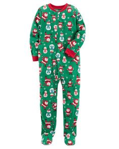 Toddler Boy 1-Piece Christmas Fleece PJs from Carters.com. Shop clothing & accessories from a trusted name in kids, toddlers, and baby clothes.