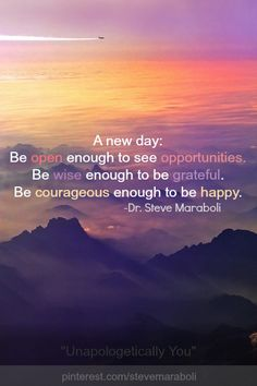 A new day #quote
