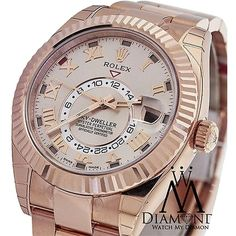 Pre-owned Rolex Sky Dweller 326935 Oyster Perpetual 18k Rose Gold... ($39,495) ❤ liked on Polyvore featuring jewelry, watches, accessories, pre owned watches, rolex wrist watch, preowned watches, rolex watches en pre owned jewelry