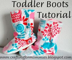 Sewing For Men These are the cutest little boots ever! Toddler Boots @ Mommy to a little lady{bug}. - I get so tired of wasting money on shoes that are purely fashion over function so I decided it was time to come up with my own toddler boot tutorial. Sewing Hacks, Sewing Tutorials, Sewing Crafts, Sewing Projects, Sewing Patterns, Sewing Designs, Clothing Patterns, Sewing Ideas, Toddler Boots