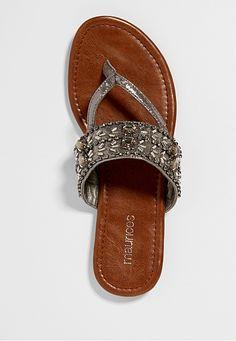 84f8240b21092 rita rhinestone embellished thong sandal - maurices.com Cute Wedges