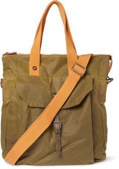 Ally Capellino Timothy Waxedcotton Tote Bag in Green for Men | Lyst