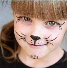 <img> It is not necessary to be an expert to create these fun party makeup for children. Although there is exclusive makeup to do this … - Cat Face Paint Easy, Kitty Face Paint, Mime Face Paint, Girl Face Painting, Face Painting Designs, Body Painting, Face Painting Halloween Kids, Painting For Kids, Halloween Face Makeup