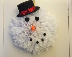 Items similar to Snowman Wreath Wire Form on Etsy Snowman Wreath, Cute Snowman, Holiday Wreaths, Mesh Wreaths, Christmas Door Hangings, Clothes Pin Wreath, Wire Wreath Forms, Holiday Outfits, Holiday Clothes
