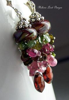 Lampwork jellyfish earrings