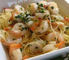 Healthy Recipe Shrimp Scampi