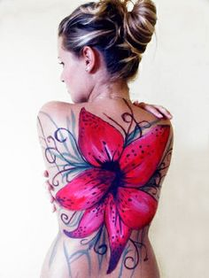 "Body painting ""Flower By MD"" !"