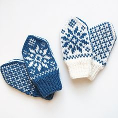 Ravelry: Floral Selbu pattern by Tonje Haugli Baby Mittens Knitting Pattern, Kids Knitting Patterns, Knit Mittens, Knitting For Kids, Mitten Gloves, Baby Patterns, Christmas Crochet Patterns, Crochet Clothes, Knit Crochet