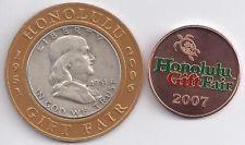 Encased 1951-P Franklin Half Dollar, Honolulu Gift Fair + HGF Medallion