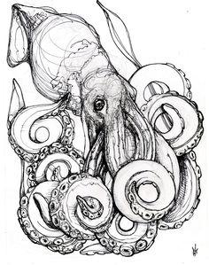 Deep Sea Squid. $55.00, via Etsy.