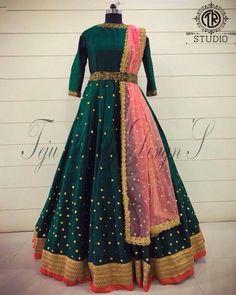 Taffeta Silk Anarkali Suit In Maroon Colour - gojiberry club Lehenga Designs, Kurta Designs, Half Saree Designs, Party Wear Indian Dresses, Gown Party Wear, Indian Gowns Dresses, Dress Indian Style, Designer Anarkali Dresses, Designer Party Wear Dresses