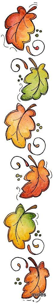 cenefa de hojas de otoño                                                       …