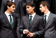 Srubbing up nicely. #Federer, #Nadal and #Murray