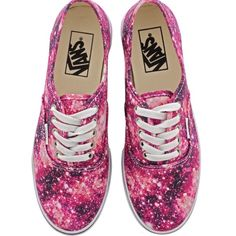 Cosmic Cloud Vans Brand new cosmic cloud vans that are a mix of reds and pinks of the galaxy and cosmos, etc. Very hipster but still kind of edgy! Very fun for spring and summer to pair with skinny jeans. Vans Shoes Sneakers