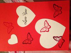 Anniversary or valentines! Using die cuts!