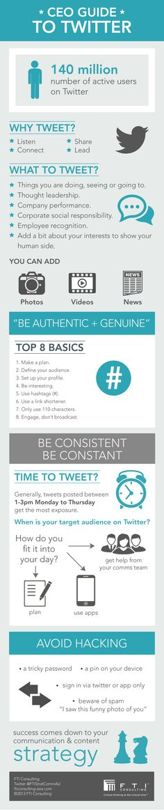CEO Guide to #Twitter #infographic