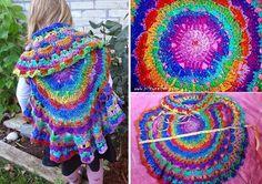 Colorful Circle Vest – Free Crochet Pattern