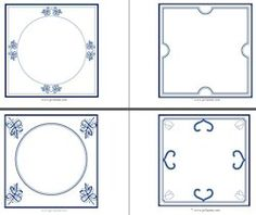 project from the netherlands Diy For Kids, Crafts For Kids, Diy Crafts, Borders And Frames, Thinking Day, Bible Crafts, Craft Activities For Kids, Printable Paper, Delft