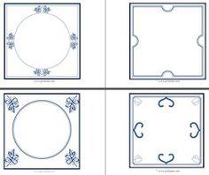 bij les 8; creatief: lege tegeltjes om zelf te ontwerpen