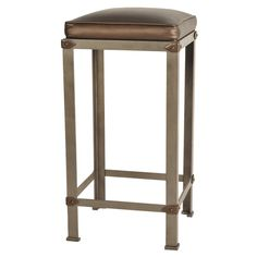Rockwell Counter Stool Contemporary, Transitional, Art Deco, Metal, Barstools Counter Stool by Ironware International Leather Bar Stools, Metal Bar Stools, Metal Chairs, Bar Chairs, Counter Stools, Office Waiting Room Chairs, Upholstered Bar Stools, Leather Recliner Chair, Small Accent Chairs