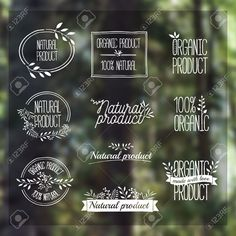 Badges, Labels, Ribbons, Plants Elements, Wreaths And Laurels,.. Royalty Free Cliparts, Vectors, And Stock Illustration. Image 43319106.