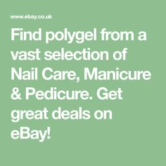 Find polygel from a vast selection of Nail Care, Manicure & Pedicure. Get great deals on eBay!